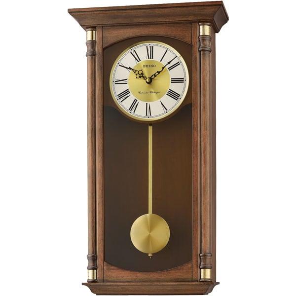 Seiko Qxh069b Pendulum Wooden Wall Clock Matsuda