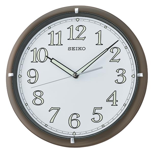 Seiko Qxa734b Lumibrite Wall Clock Brown Amp White Matsuda